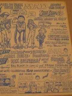 Sun Con Comic Book Convention Original Advertisement • USA