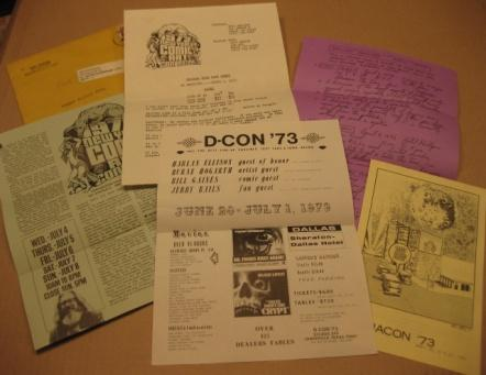 Collection Of Comic Con Flyers From 1973 • USA