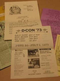 Go to Collection Of Comic Con Flyers From 1973 • USA