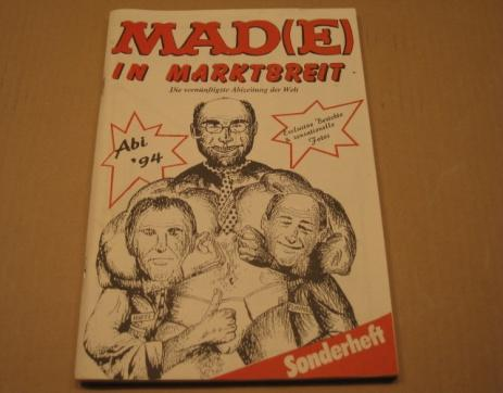 Yearbook with MAD Magazine Cover Logo Rip-Off • Germany