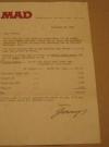 Jerry DeFuccio Signed Letter Golden Age Comics Sale (USA) Publication Date: 29th November 1967