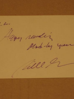 Go to William M. (Bill) Gaines Signed Note Card Autograph