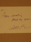William M. (Bill) Gaines Signed Note Card Autograph (USA)