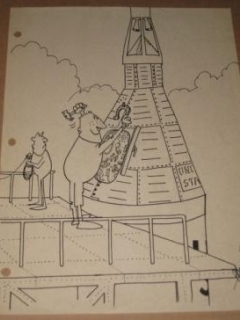 Sergio Aragones Original Art - A MAD Look At The US Space Effort • USA