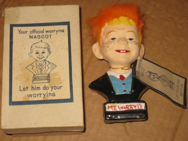 "Bust Alfred E. Neuman ""Fuzzy-Hair"" with Original Tag & Storage Box • USA"