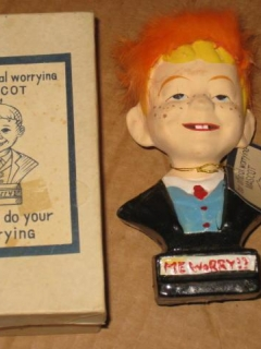 "Go to Bust Alfred E. Neuman ""Fuzzy-Hair"" with Original Tag & Storage Box • USA"