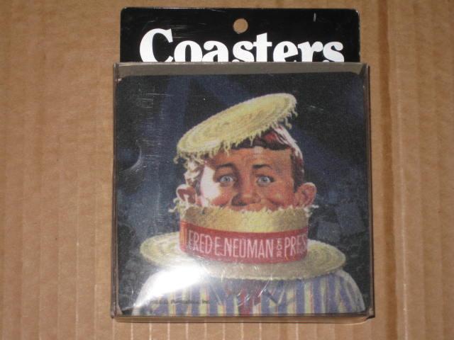 Rubber Coasters Alfred E. Neuman • USA