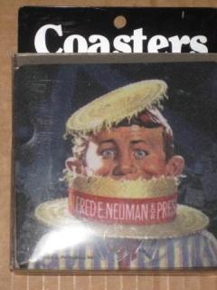 Rubber Coasters Alfred E. Neuman