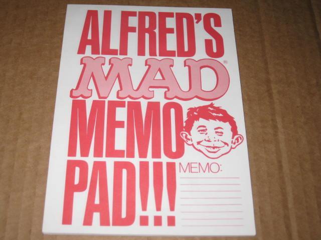 Promotional Memo Pad MAD Magazine / Alfred E. Neuman • USA