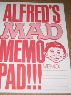 Go to Promotional Memo Pad MAD Magazine / Alfred E. Neuman • USA