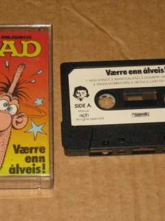 Music Cassette Tape MAD Magazine • Norway