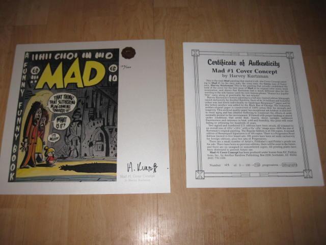 Cover Concept Print MAD Comic Book #1 • USA