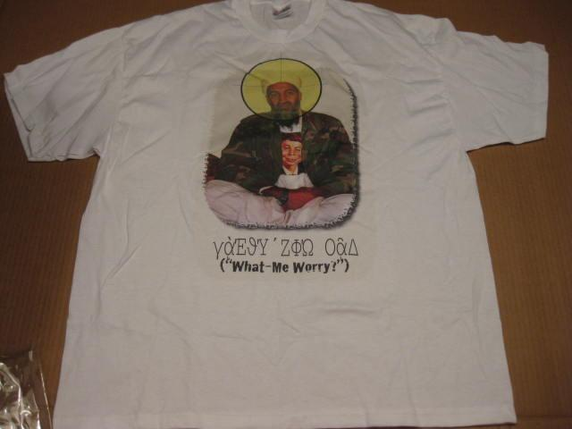 T-Shirt Osama Bin Laden / What - Me Worry • USA