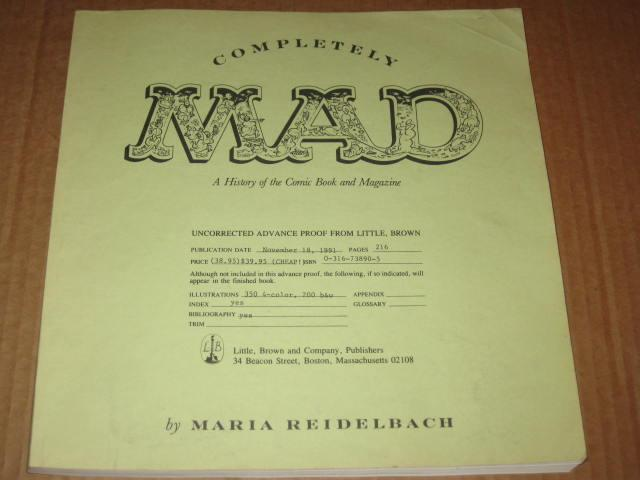 Completely MAD Trade Paperback - Uncorrected Advance Proof • USA • 1st Edition - New York