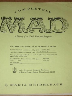 Go to Completely MAD Trade Paperback - Uncorrected Advance Proof • USA • 1st Edition - New York