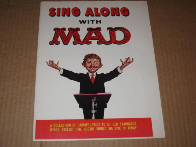 Sing Along With MAD - Untrimmed, Unbound Cover • USA