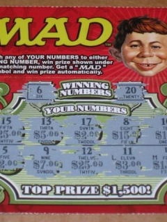 Go to Scratch-Off Lottery Ticket MAD Magazine $2 - Delaware Lottery  • USA