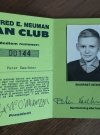 Image of Alfred E. Neuman Fan Club Membership Card #2 - Inside