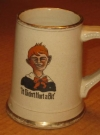 Ceramic Mug Alfred E. Neuman - It Didn't Hurt A Bit (USA) Manufactor: New York Dental Parlors Publication Date: 1910