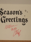 Image of Bob Clarke Signed Christmas Card