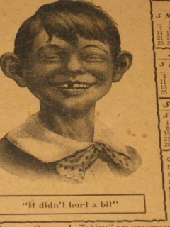 Go to Antikamnia Tablet Calendar 1907 with Early Alfred E. Neuman • USA
