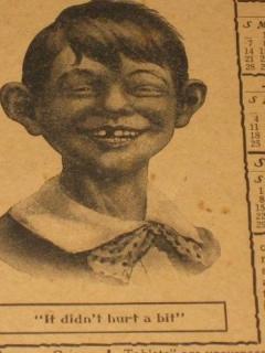 Antikamnia Tablet Calendar 1907 with Early Alfred E. Neuman • USA