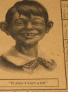 1907 Anitkamnia Tablet Calendar with Early Alfred E. Neuman (USA) Manufactor: Anitkamnia Chemical Company Publication Date: 1906