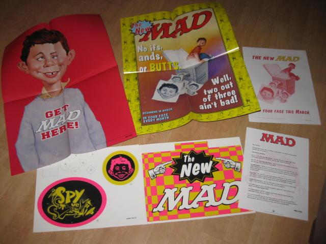 """The """"NEW"""" MAD Promotional Store Display Kit Posters, Mobile, Letter  • USA"""