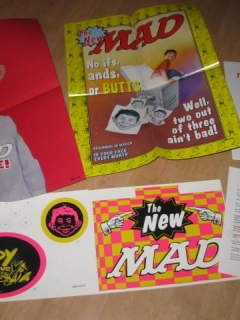 "Go to The ""NEW"" MAD Promotional Store Display Kit Posters, Mobile, Letter  • USA"