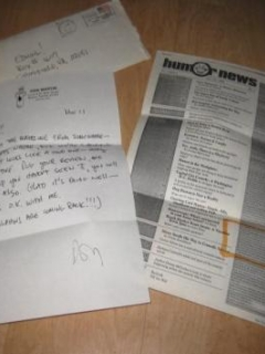 Don Martin Signed Letter w/ Envelope • USA