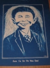 Image of Original Drawing & Tracing Alfred E. Neuman