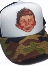 Camouflage Cap Alfred E. Neuman