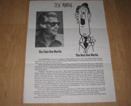Don Martin - Advertising Flyer • USA