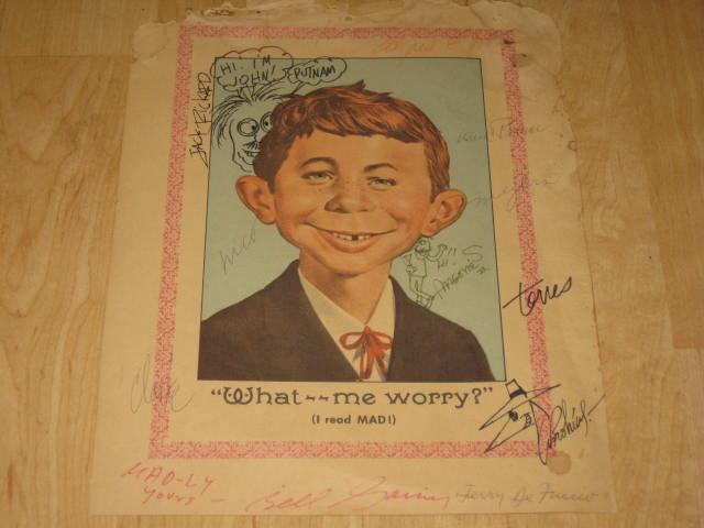 Color Picture Alfred E Neuman Signed By The Usual Gang Of Idiots • USA