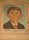 Alfred E Neuman Color Picture Signed By The Usual Gang Of Idiots (USA)