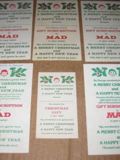 Go to Christmas Gift Subscription Cards MAD Magazine • USA