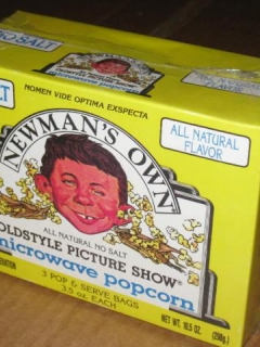 Go to Sealed Newman's Own Popcorn Box w/ Alfred E. Neuman