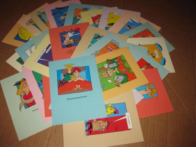 Set Of 34 Don Martin Greeting Cards Banana Peals • USA