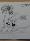 Image of Don Martin Greeting Card - Survivor on Island - Inside