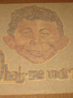 Go to Original Alfred E. Neuman Iron-On Decal Outrageous Put-On Company