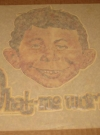 Image of Original Alfred E. Neuman Iron-On Decal Outrageous Put-On Company