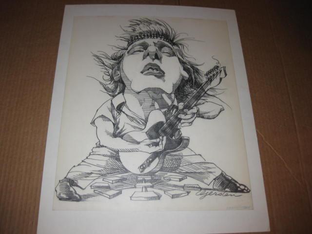 Original Art - Bruce Springsteen by Gerry Gersten • USA
