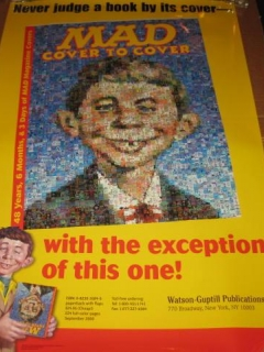 Go to Book Store Display Poster MAD Cover To Cover • USA