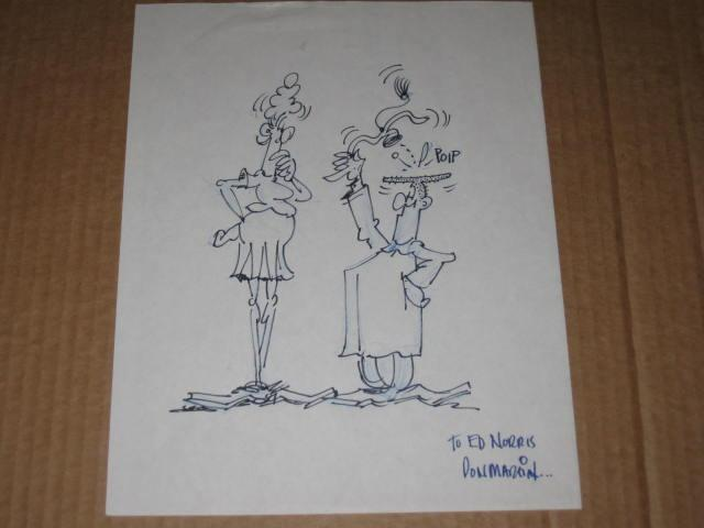 "Don Martin Signed Character Sketch ""To Ed Norris - Don Martin......."" • USA"