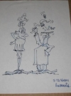 "Thumbnail of Don Martin Signed Character Sketch ""To Ed Norris - Don Martin......."""