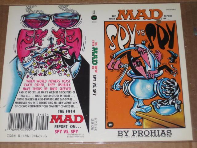 Spy vs. Spy Paperback Book Cover Proof  • USA