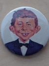Pin Alfred E. Neuman Face from the UGOI MAD Visit 1980 • Germany Manufactor: Klaus Recht Original price: free Publication Date: 1980