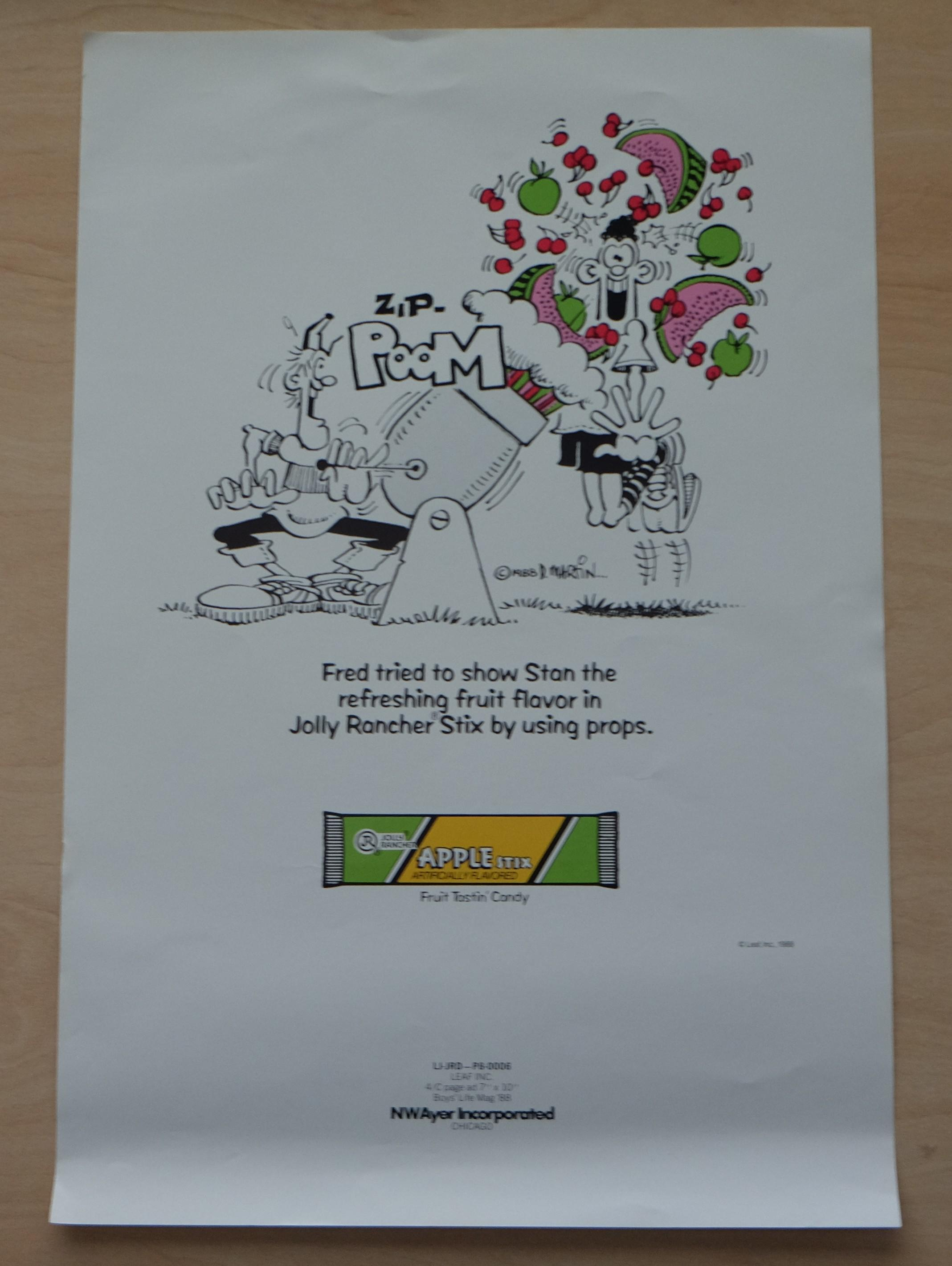 Poster Apple Stix Promotional Don Martin Art • USA