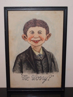 Go to Painting of Alfred E. Neuman Original and Signed 1942 • USA