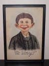 Painting of Alfred E. Neuman Original and Signed 1942 (USA) Publication Date: 1942